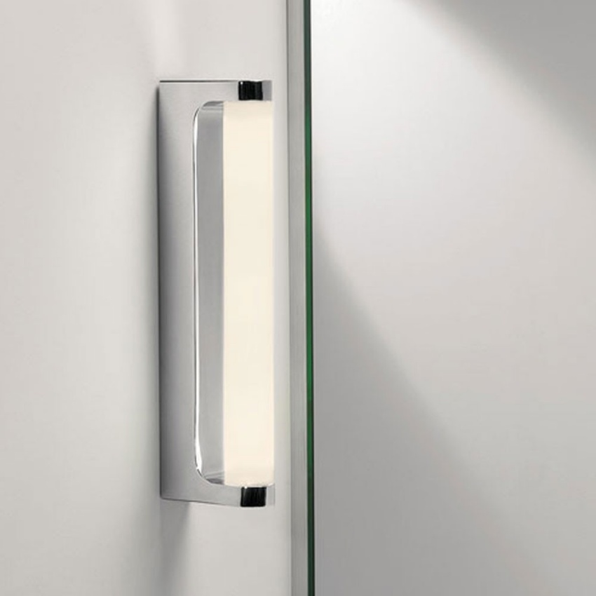 Led Polished Chrome Bathroom Wall Light