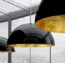 Large Black & Gold Dome Pendant
