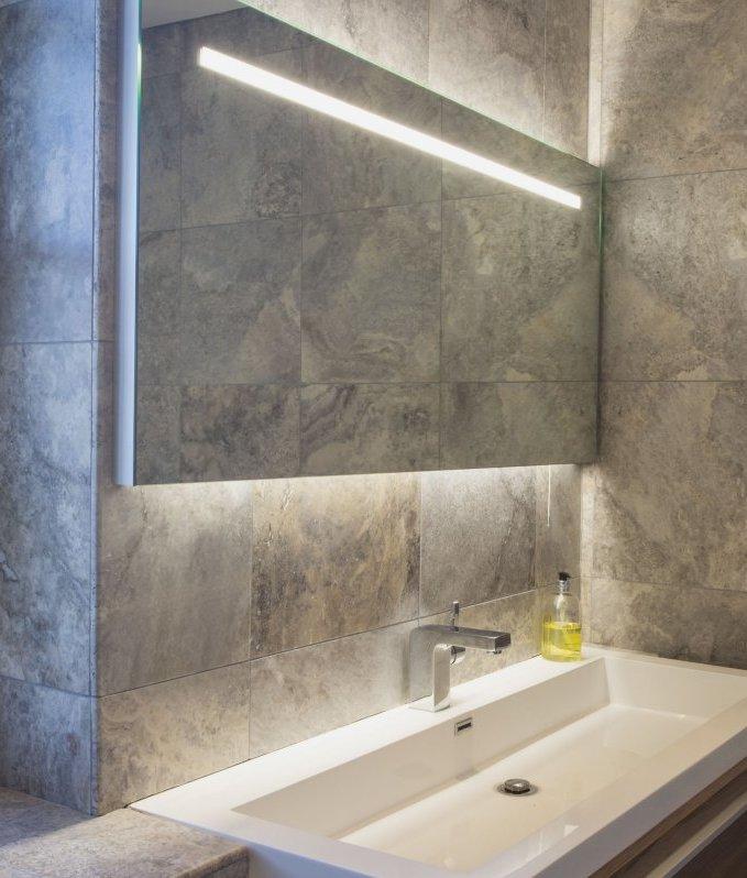 large illuminated bathroom mirror saving you