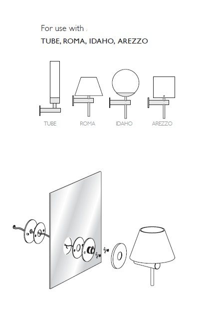 mirror fixing kit for wall lights