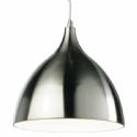Bright White Inside Steel Pendant