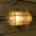 Marine Brass and Prismatic Glass Pill Bulkhead