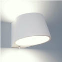 Plaster Bedside Light with Switch
