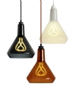Hand-Blown Glass Shade - Amber, Black or White