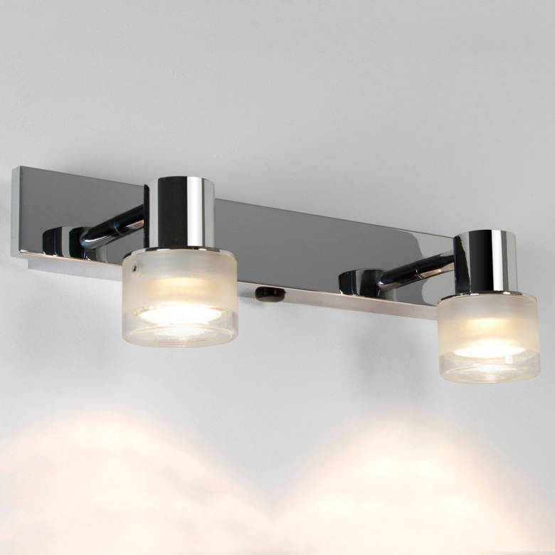 Chrome Twin Lamp Fixed Bathroom Light