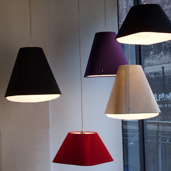 Ceiling light shade with diffuser : Rd sq synthetic shade with diffuser