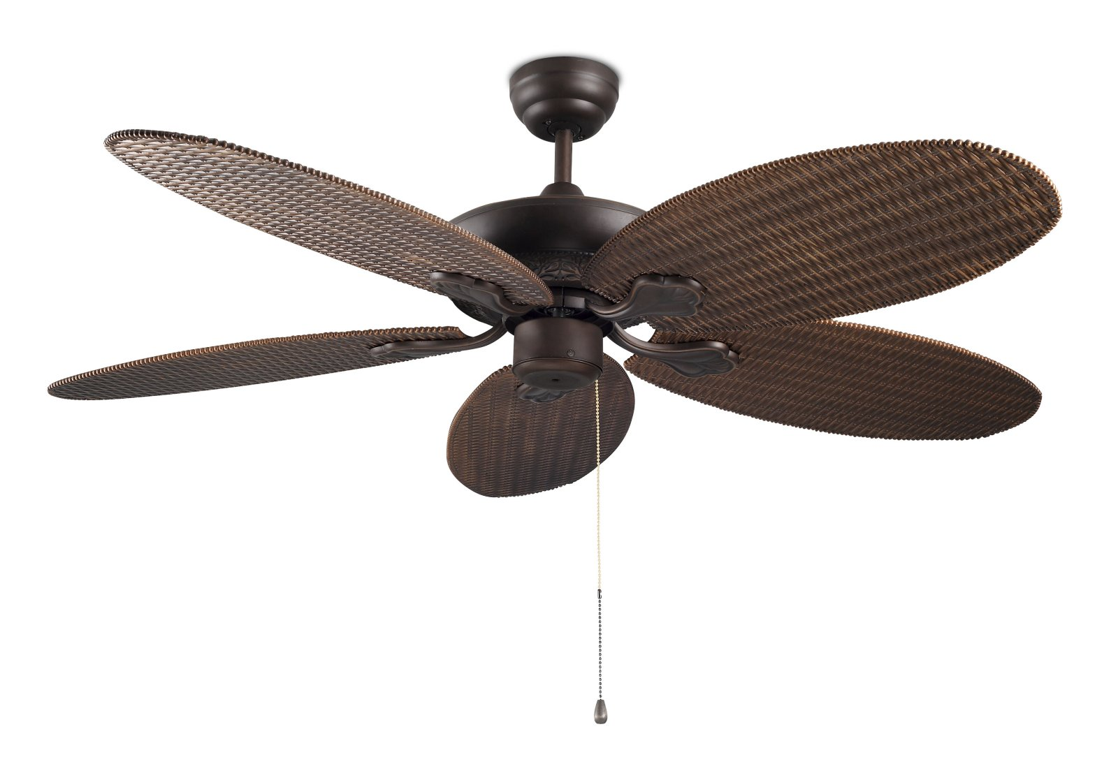 Rattan style ceiling fan no light Ceiling fans no light