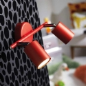 Twin Adjustable Wall Light - Red- Saving you �24.20