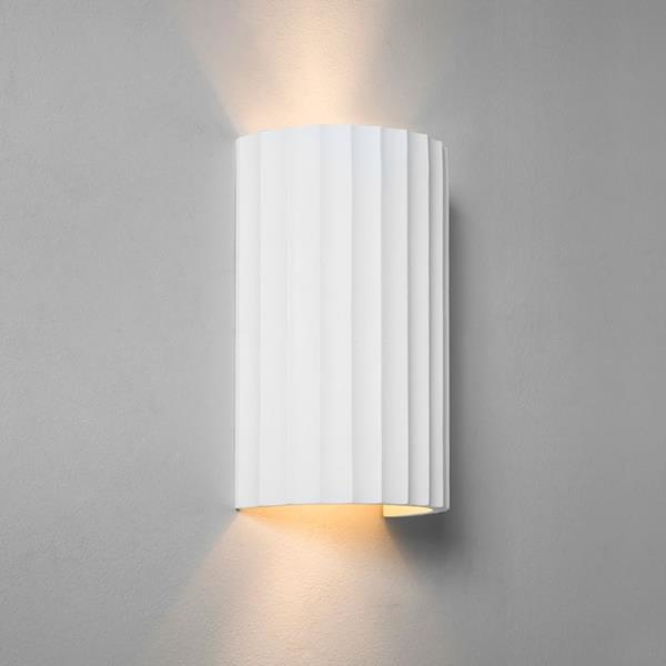 Plaster Wall Lights Up Down : Rippled Plaster Up & Down Wall Light