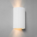 Rippled Plaster Up & Down Wall Light