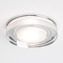 Large Round Glass Shower Light