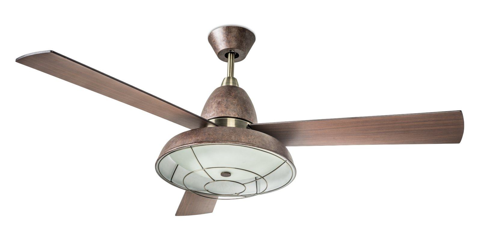 Vintage+Ceiling+Fans Retro Ceiling Fan with Caged Light