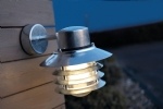 Vaned Low Glare Outdoor Wall Light