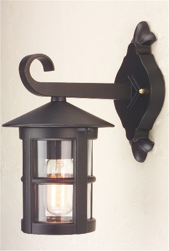 Small Outdoor Wall Lights : Small Exterior Black Wall Lantern