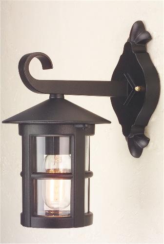 Small Outdoor Wall Lights : Small Exterior Black Wall Lantern