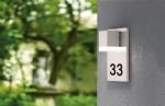 Square Illuminated House Number Plaque