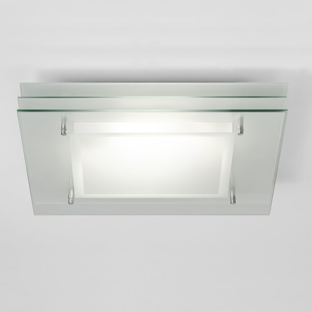 Square Bathroom Light With Layered Glass