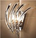 Sweeping Swirl Crystal Wall Light