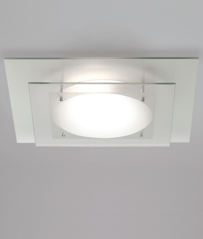 Tiered Glass Bathroom Ceiling Light- Saving you �14.68