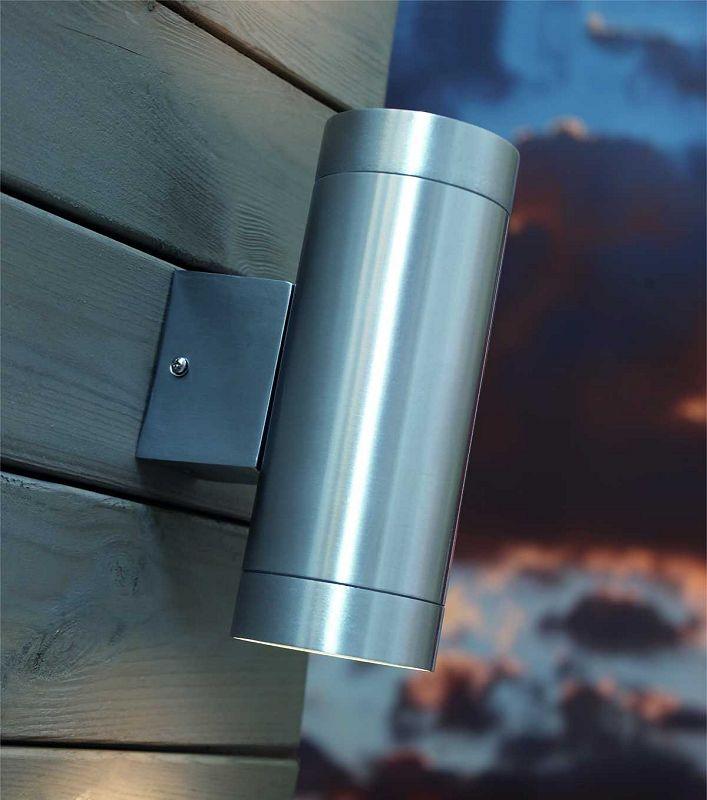 Brushed Aluminium Wall Light Up/