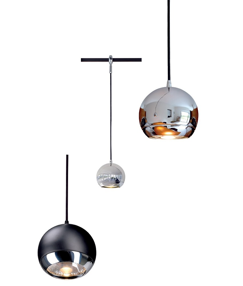 Black Track Lighting Kitchen: Advanced Track Pendant Light-Eye Chrome