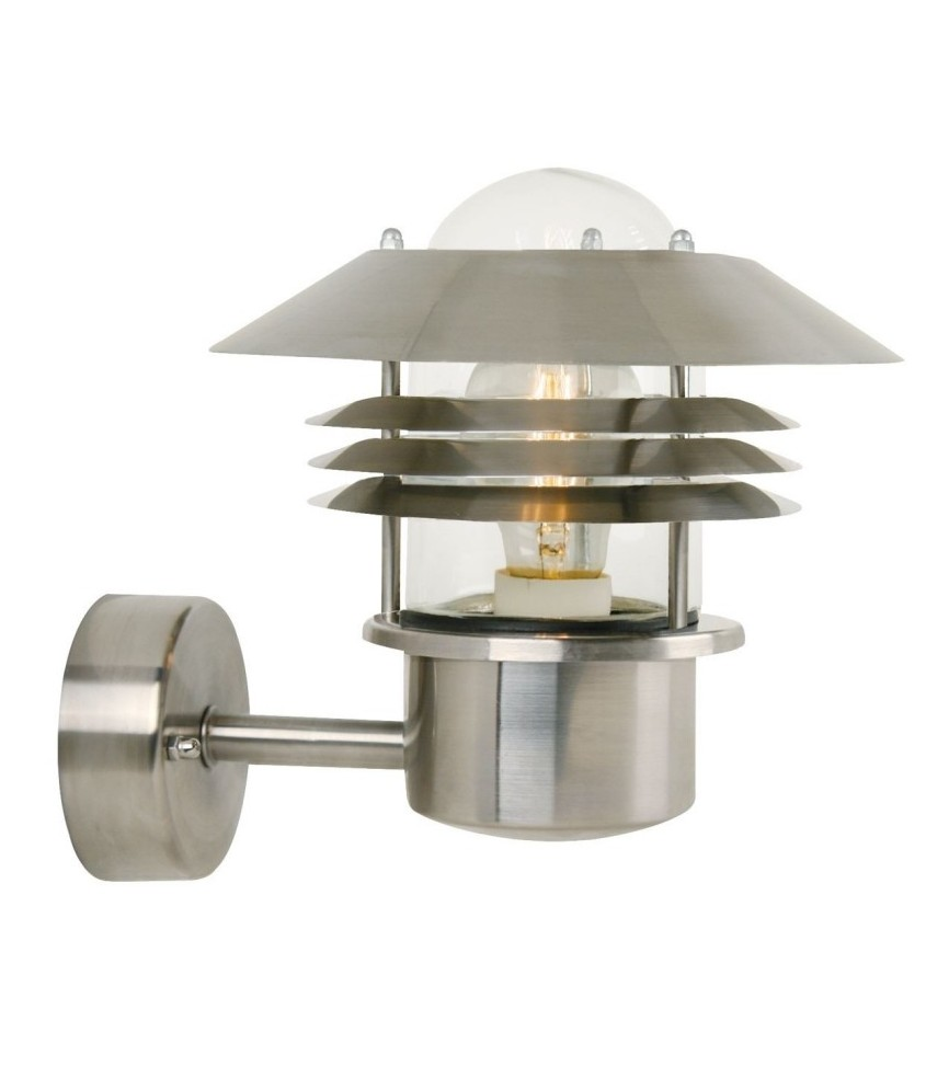 Low Energy Exterior Wall Lights : Vaned Low Glare Outdoor Wall Light