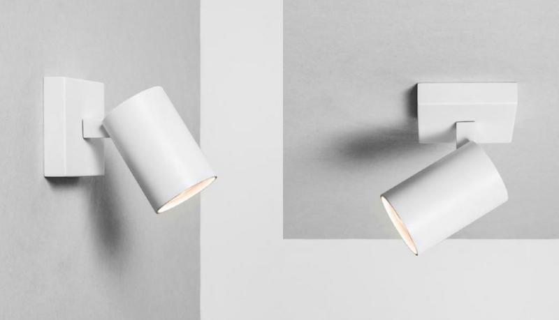 White Wall Mounted Spotlights : Modern White Single Spotlight