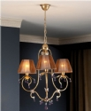 Aged Patina Chandelier with Crystals