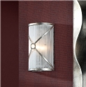 Aged Silver Wall Light - Silver Thread Shade