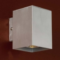 Brushed Aluminium Box Wall Light- Saving you �6.68