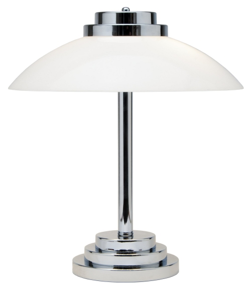 Art Deco Chrome Table Light