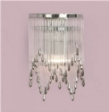 Crystal and Chrome Art Deco Wall Light