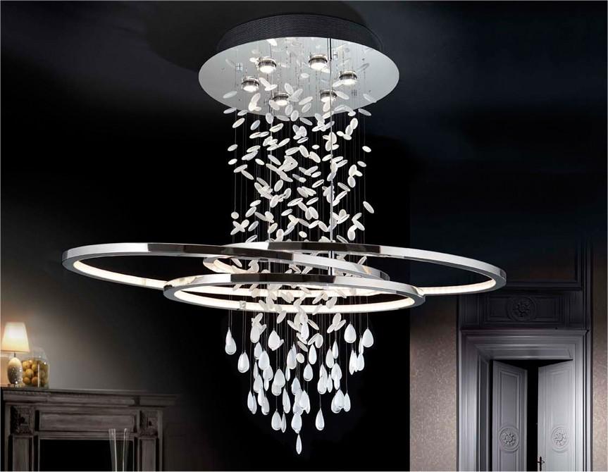 Asymmetric Oval Long Drop Led Light