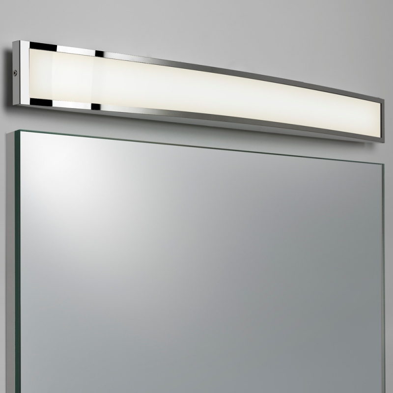 led modern over mirror bathroom light