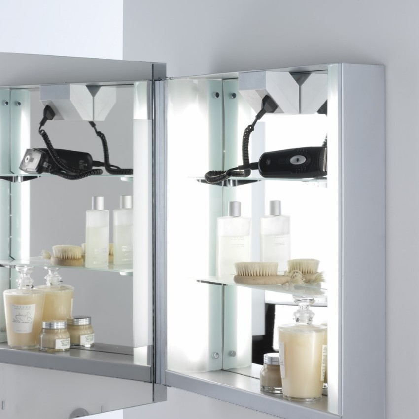 bathroom cabinet with shaver