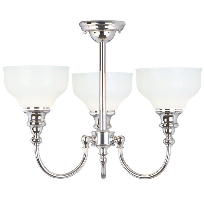 a posh chandelier for your bathroom