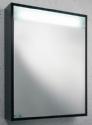 Black Gloss Illuminated Bathroom Mirror