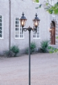 Stylish Exterior Double Lamp Post