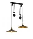 Metal Rise & Fall Double Pendant - LED Lamps