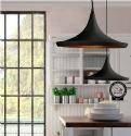 Shallow Single Metal Pendant - LED Lamp