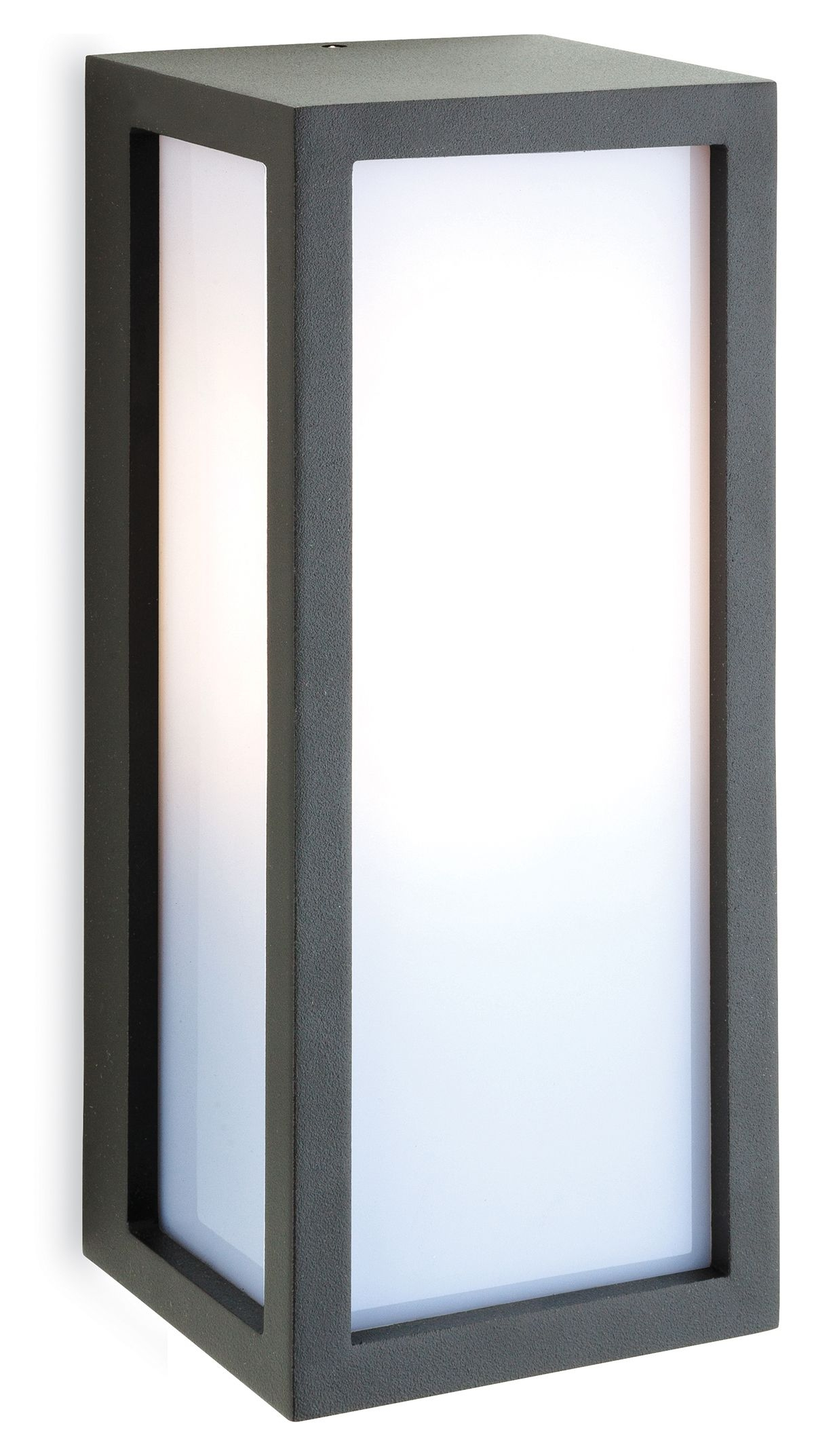 Wall Hanging Light Box : Exterior Box Wall Light with Opal Diffuser