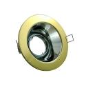 Mains Low Glare Tilt Downlight - Polished Brass