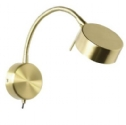 Circular Gold Bedside Wall Light With Switch- Saving you �18.00