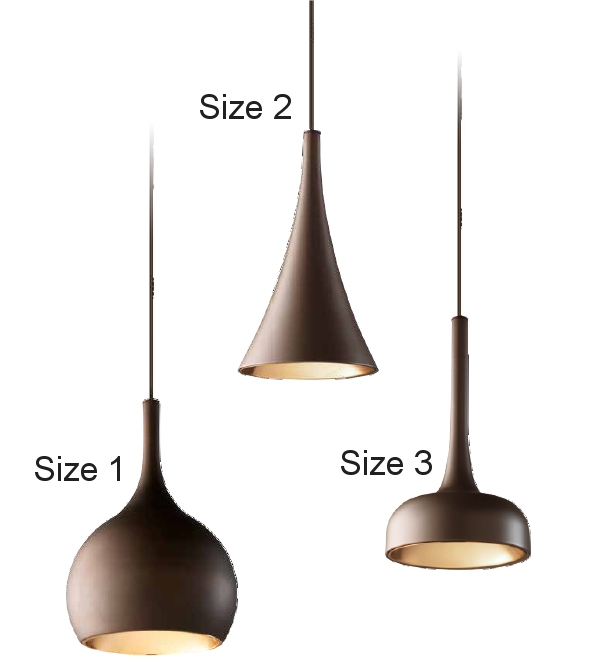 Single LED Off Set Modern Hanging Pendant