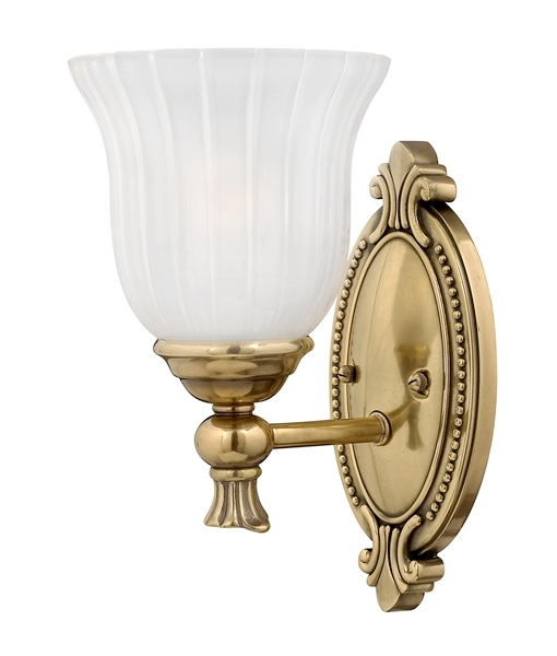 Decorative Wall Lights For Bathroom : Bathroom wall light burnished brass