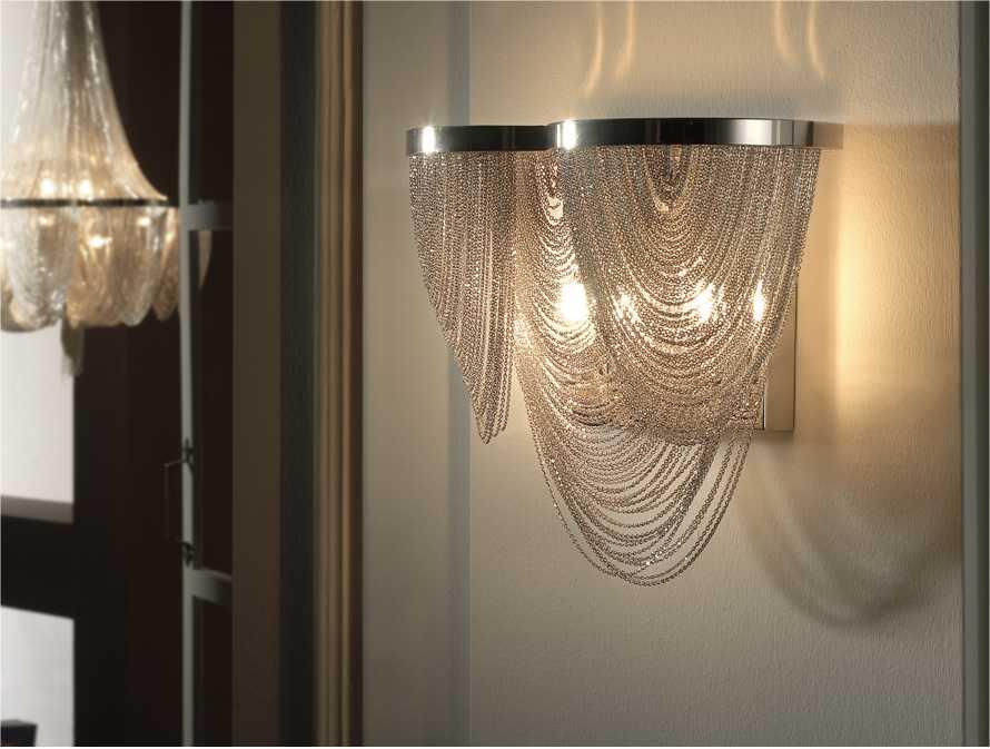 Chain & Scoop Metal Wall Light