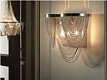 Chain & Scoop Metal Wall Light
