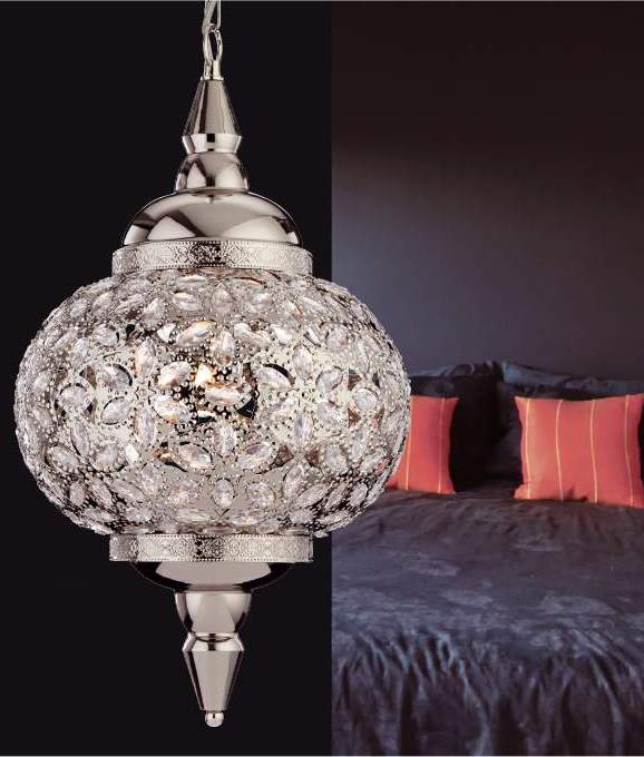 Taj Mahal Pendant Chrome & Acrylic