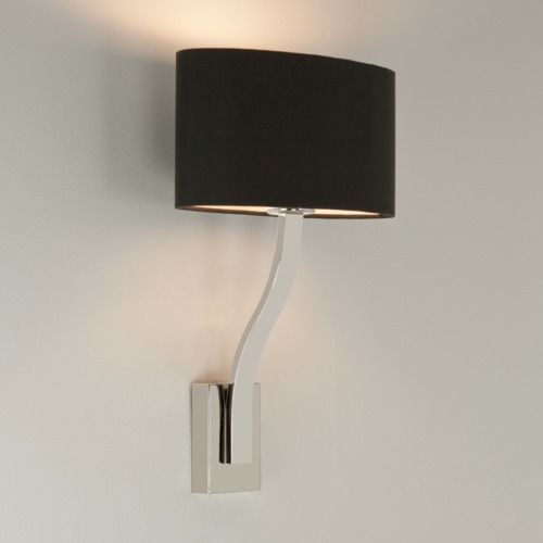 Sleek Small Space Wall Light with Shade