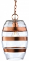 Clear Glass & Copper Banded Pendant
